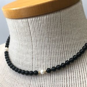 DuPont 14k Beaded Necklace